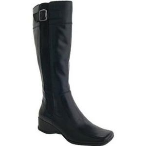 CLARKS  Madison Rose Leather Knee High Boots 7.5